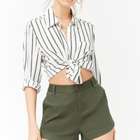 Textured High-Waist Shorts