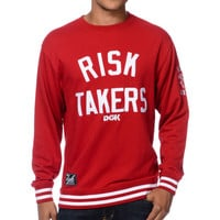 DGK Risk Takers Red Crew Neck Sweatshirt at Zumiez : PDP