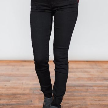 Kan Can Jeans- Non-Distressed Solid Black