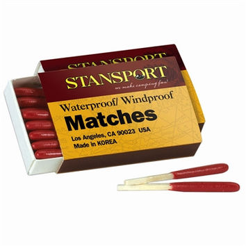 Windproof/Waterproof Matches 50-Pack