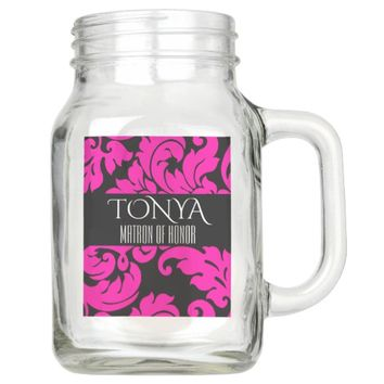 CUSTOMIZED MATRON OF HONOR 20 OZ MASON JAR