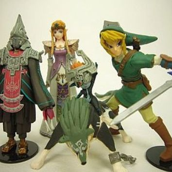 Yujin Legend of Zelda Twilight Princess Complete Figure Set Nintendo Link Rare