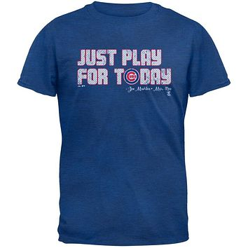 Chicago Cubs - NL Central 2015 Champs Play For Today Soft Adult T-Shirt