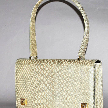Authentic Gianni Versace Vintage Python Embossed Evening Bag