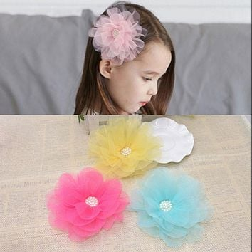 New  Yran Big Flower Hairpins Colorful Flora ChildrenHair Ornaments Sweet Headwear Hair Accessories Hair Clip