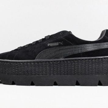 Puma x Fenty Cleated Creeper # 366268 04 Rihanna Black Suede Ship Now
