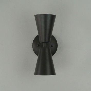 Straight Double Cone Wall Sconce