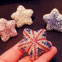 Star Crystal Car vent clip with Car air freshener, car interior Decal, Handmade Car Accessory