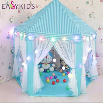 Kids Play Tent Teepee Gift Princess Castle Tipi Toy Tents Kids Play House Lodge Balls Pool Cottages Best Gifts