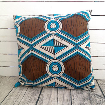 Cushion pillow cover, African wax print  (17 inch)