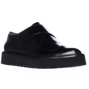 VINCE Arden Sleek Laceless Oxfords - Black
