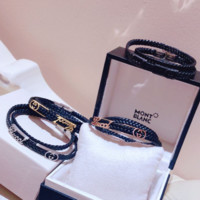 GUCCI New fashion leather rope personality women couple bracelet
