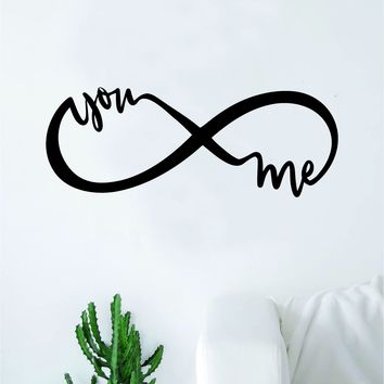 Infinity You And Me Wall Decal Sticker Bedroom Room Art Vinyl Home Decor Teen Kids Infinite Love Nursery Tattoo