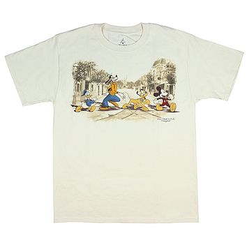 Disneyland Disney World Main Street USA Classic Character Men's T-Shirt