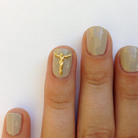 Oh jesus nail charm  14k Gold/Silver plated by HEXNAILJEWELRY