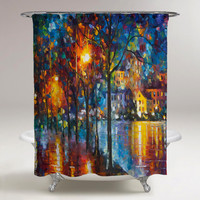 Rain Abstrack Painting Custom Shower Curtain Print On