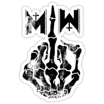 Motionless In White Middle Finger BLACK