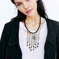 Charlotte Dripping Stone Necklace- Green One