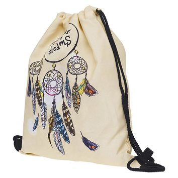 Dreamcatcher Drawstring Bags Cinch String Backpack Funny Funky Cute Novelty