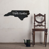 North Carolina Chalkboard State wall decal