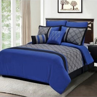 Superior Maxfield 8 Piece Embroidered Comforter Set