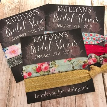 Bridal Shower Hair Tie Favor Gifts | Thank you gift | Bridal Shower Bridesmaids Gift