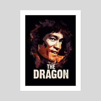 The Dragon - Bruce Lee, an art print by Dusan Naumovski