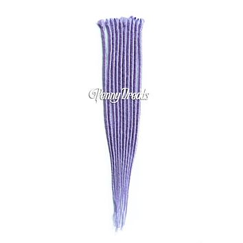 Lavender Single Ended Synthetic Dreadlock Extensions 20""
