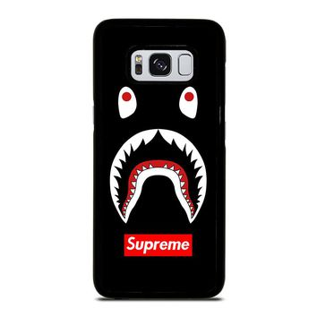 BAPE CAMO SHARK SUPREME BLACK Samsung Galaxy S8 Case Cover