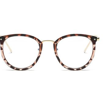 Fashion Black Vintage Metal Optical  Women Eyeglasses