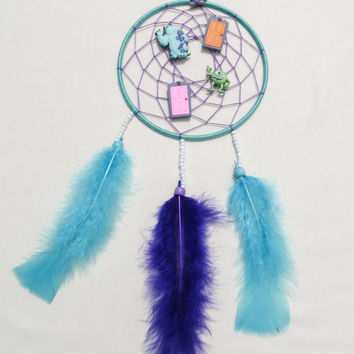 Disney Monsters Inc inspired Dreamcatcher-kids bedroom decoration-wall hanging