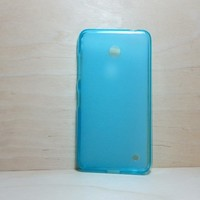 For Nokia Lumia 630 / 635 Blue Soft TPU translucent Color Case Protective Silicone Back Case Cover