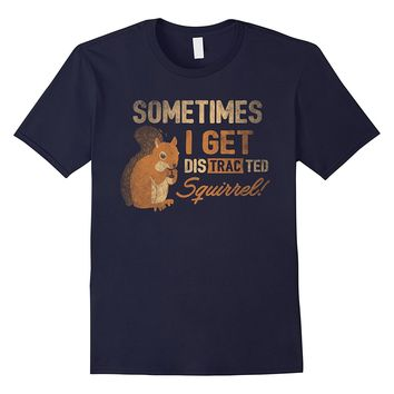 Squirrel T-Shirt Distracted Squirrel Farm Animal Funny Gift