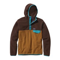 Patagonia Men's Synchilla® Recycled Snap-T® Fleece Hoody | Java Brown