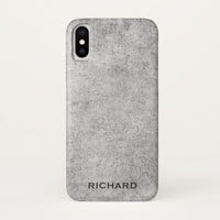 Gray concrete look rough grunge iPhone x case