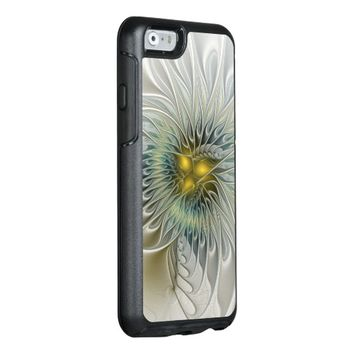Golden Flower Fantasy, abstract Fractal Art OtterBox iPhone 6/6s Case