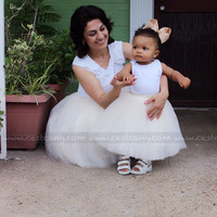 Mommy and Me Set of Tulle Skirts, Puffy Tulle Skirts for Women & Kids, Adult Tutu, Baby Tutu