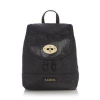 Black textured backpack