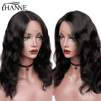 Brazilian Natural Wave Human Hair Wigs Lace Front