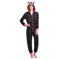 Women's Hooded Sleep Footie Pajama - Cat