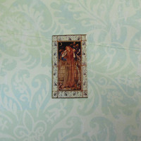 Dollhouse Miniature William Morris Lady Tile Mural