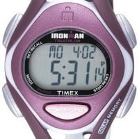 Timex Women's T5K007 Ironman Sleek 50-Lap Plum Resin Watch with Purple Strap