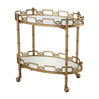 Lazy Susan Curvilinear Two Tier Tray Table - 114-136