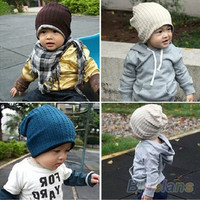 Baby Infant Toddler Beanie Hat Warm Winter Boys Girls Cap Children 5 Colors = 1946288260