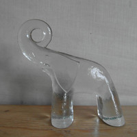 Vintage Kosta Boda  ELEPHANT  crystal  glass  Bertil by danishmood