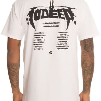The Roadie Tour Tee in White
