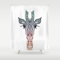 *** CUTE AZTEC GiRAFFE ***  Shower Curtain by Monika Strigel for your amazing bathroom! Machine washable and absolutly fabolous!
