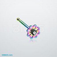 Colorline Daisy Breeze Sparkle Nose Stud Ring
