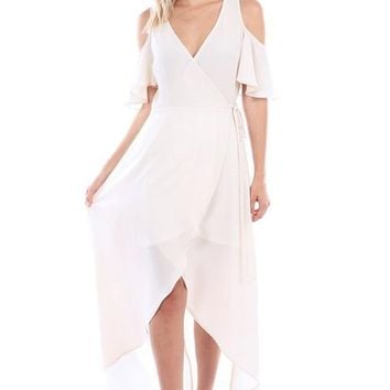 Angelo Wrap Dress - Cream
