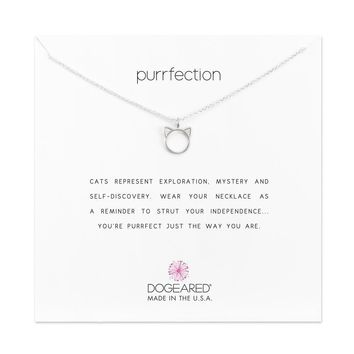 Dogeared Sterling Silver Purrfection Necklace